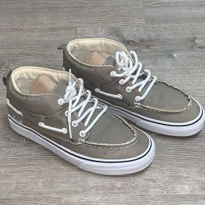 Vans off the wall canvas tan boat sneakers